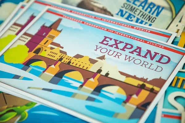 Expand your World pamphlets in a pile