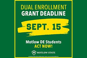 Dual Enrollment Grant Deadline